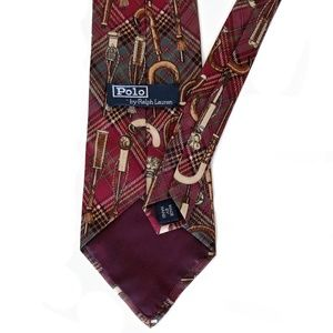 Polo by Ralph Lauren Accessories - Polo Tartan Plaid  Walking Stick Handle Print Tie